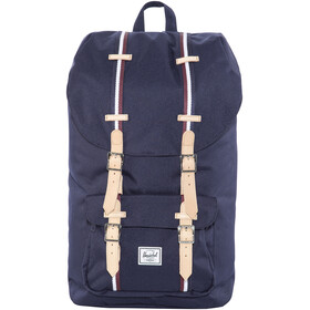 Herschel Little America Backpack Peacoat/Windsor Wine/White